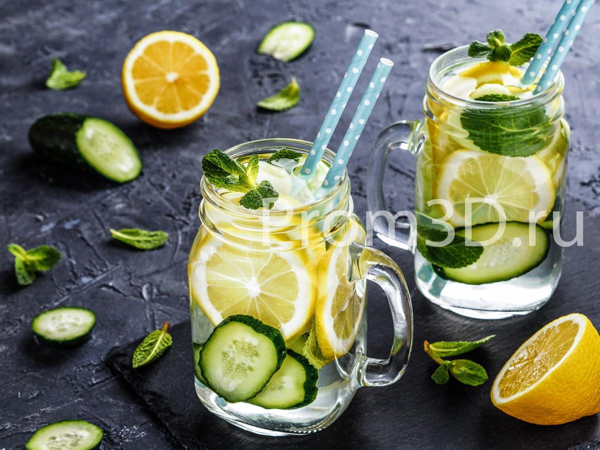 Детокс-напиток с огурцом
