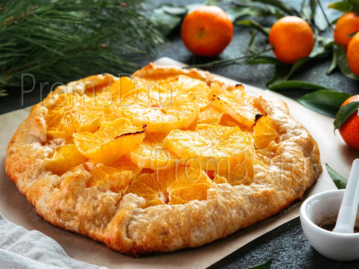 Апельсиновый тарт с тмином